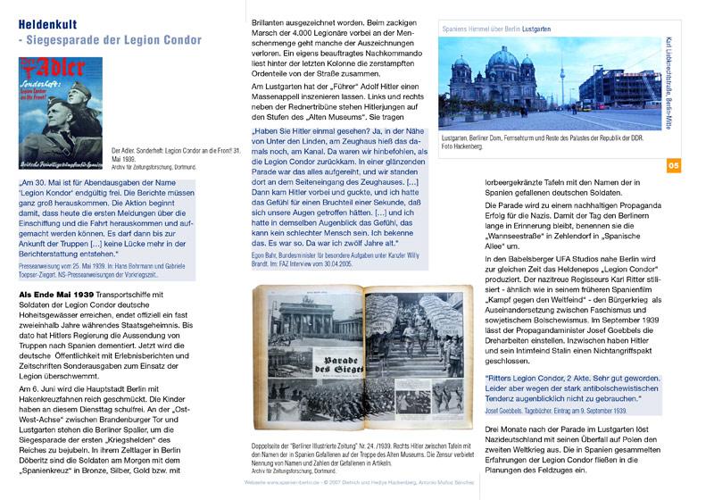 Preview PDF Spaniens Himmel über Berlin - Lustgarten - Heldenkult – Siegesparade der Legion Condor