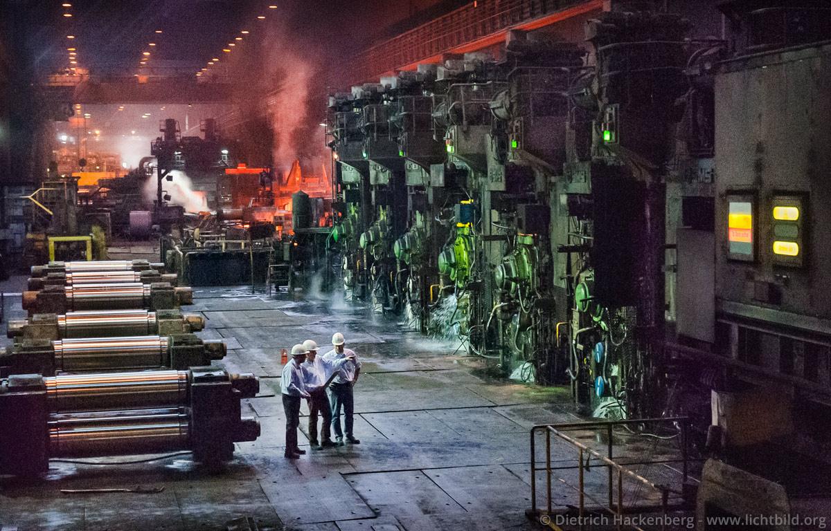 Kundengespräch vor Ort - Thyssen-Krupp Walzwerk in Bochum - Foto © Dietrich Hackenberg