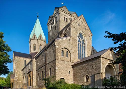 Ehemalige Benedektiner-Abtei - Essen-Werden St. Ludgerus, ein Kloster bis 1802, Abtei Essen-Werden. Foto © Dietrich Hackenberg