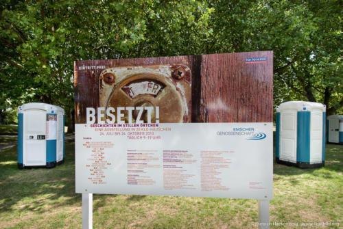 Ausstellung BESETZT im Niederrhein-Stadion Oberhausen - Foto © Dietrich Hackenberg