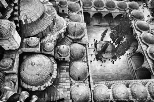 Blick vom Minarett der Fatih Moschee - Istanbul, Türkei - Foto © Dietrich Hackenberg