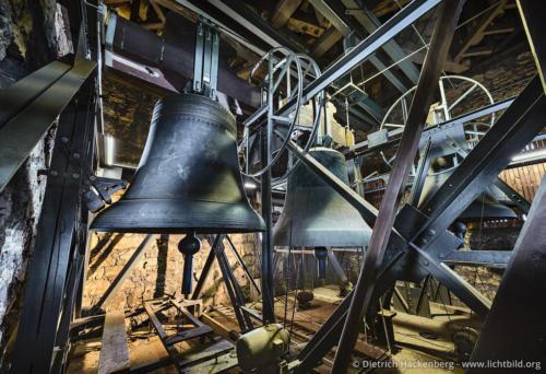 Glocken des niederländischen Glockengiesser Gerdt van Wou - Recklinghausen. Katholischen Propsteikirche St. Peter Recklinghausen - Foto © Dietrich Hackenberg