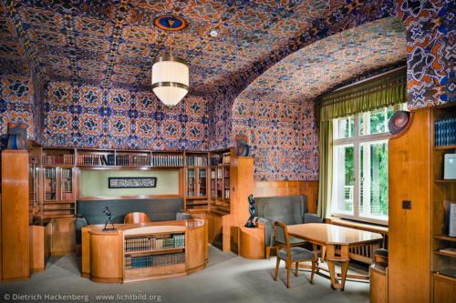 Arbeitszimmer von Karl Ernst Osthaus im Hohenhof Hagen - Foto © Dietrich Hackenberg