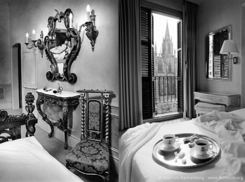 """Hotelzimmer in London und Barcelona - Fotografiert für den Kalender """"Verliebte Zimmer"""" erschienen im teNeues Verlag - Foto © Dietrich Hackenberg"""