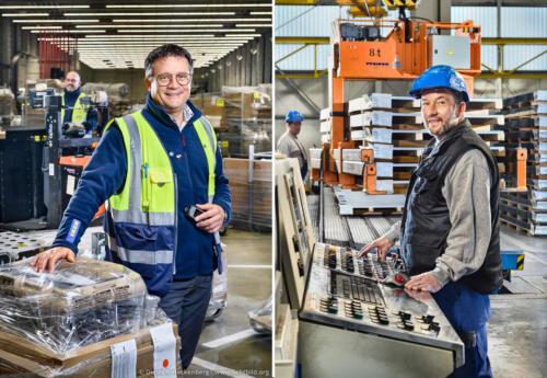 Portraits für ver.di Plakatkampagne — Mitarbeiter im Ikea Zentrallager Dortmund und im thyssenkrupp Schulte Edelstahllager in Dortmund