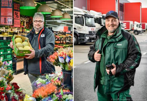 Portraits für ver.di Plakatkampagne — Mitarbeiter bei Kaufland Hohenlimburg und ein Fahrer für das Rewe Frischezentrum Dortmund