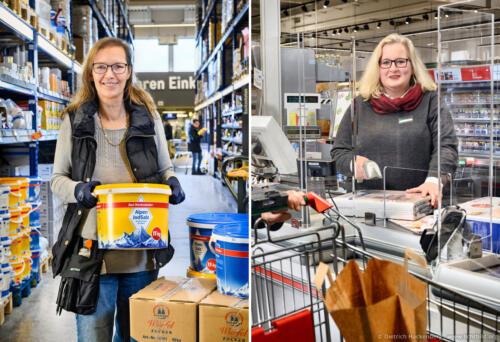 Portraits für ver.di Plakatkampagne — Mitarbeiterin beim Metro-Großhandel in Dortmund und bei Marktkauf Münster