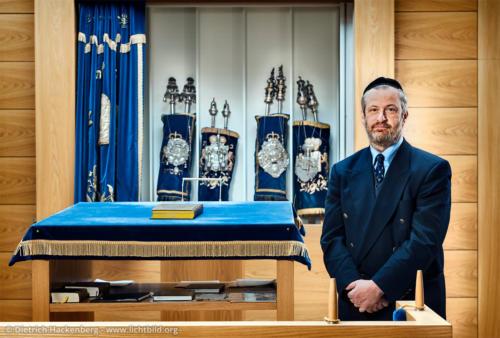 Rabbi Chaim Kornblum - Jüdische Gemeinde Gelsenkirchen Portrait für eine Buchveröffentlichung - Foto © Dietrich Hackenberg