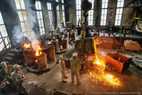 Stahlkocher - Stahlwerk - Foto © Dietrich Hackenberg