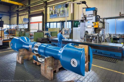 Werkstück vor Kekeisen-Maschine - Maschinenfabrik Gustav Wiegard, Witten - Foto © Dietrich Hackenberg