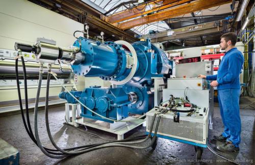 Haspel Testlauf - Gustav Wiegard Maschinenfabrik, Witten - Foto © Dietrich Hackenberg